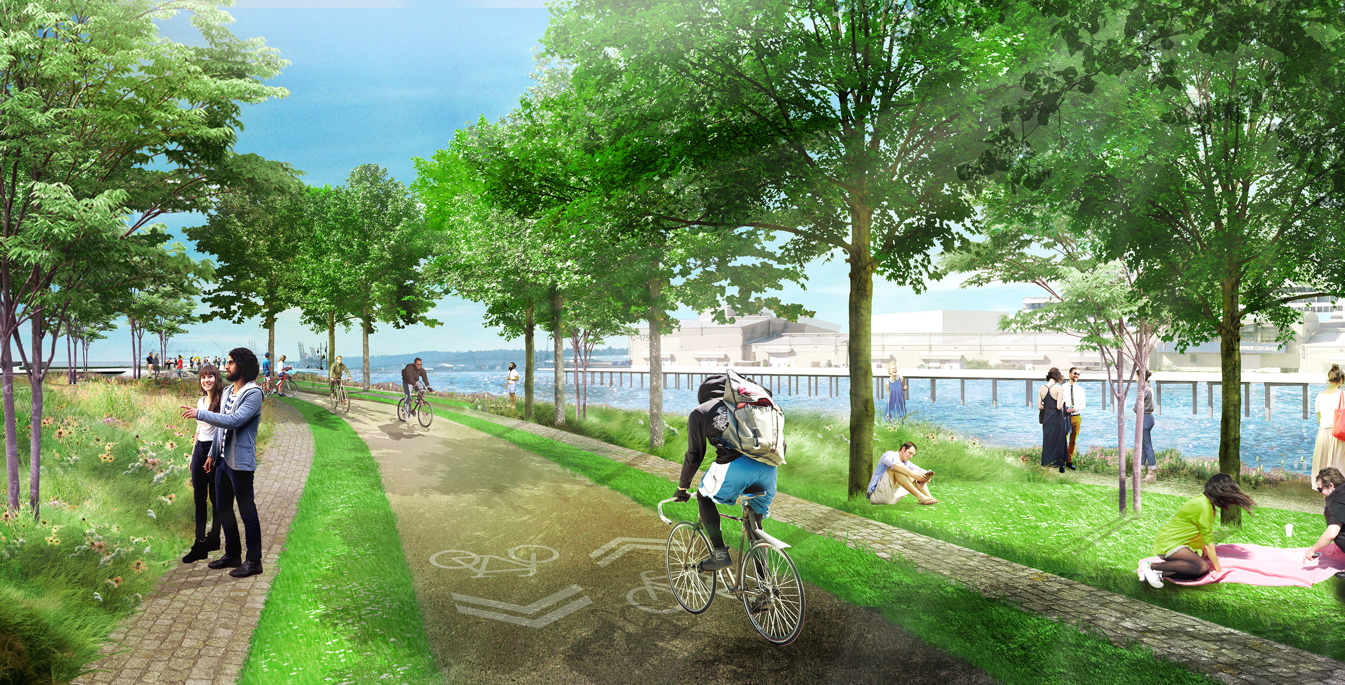 Waterfront: Ample outdoor space, including the Elliott Bay Bike Trail
