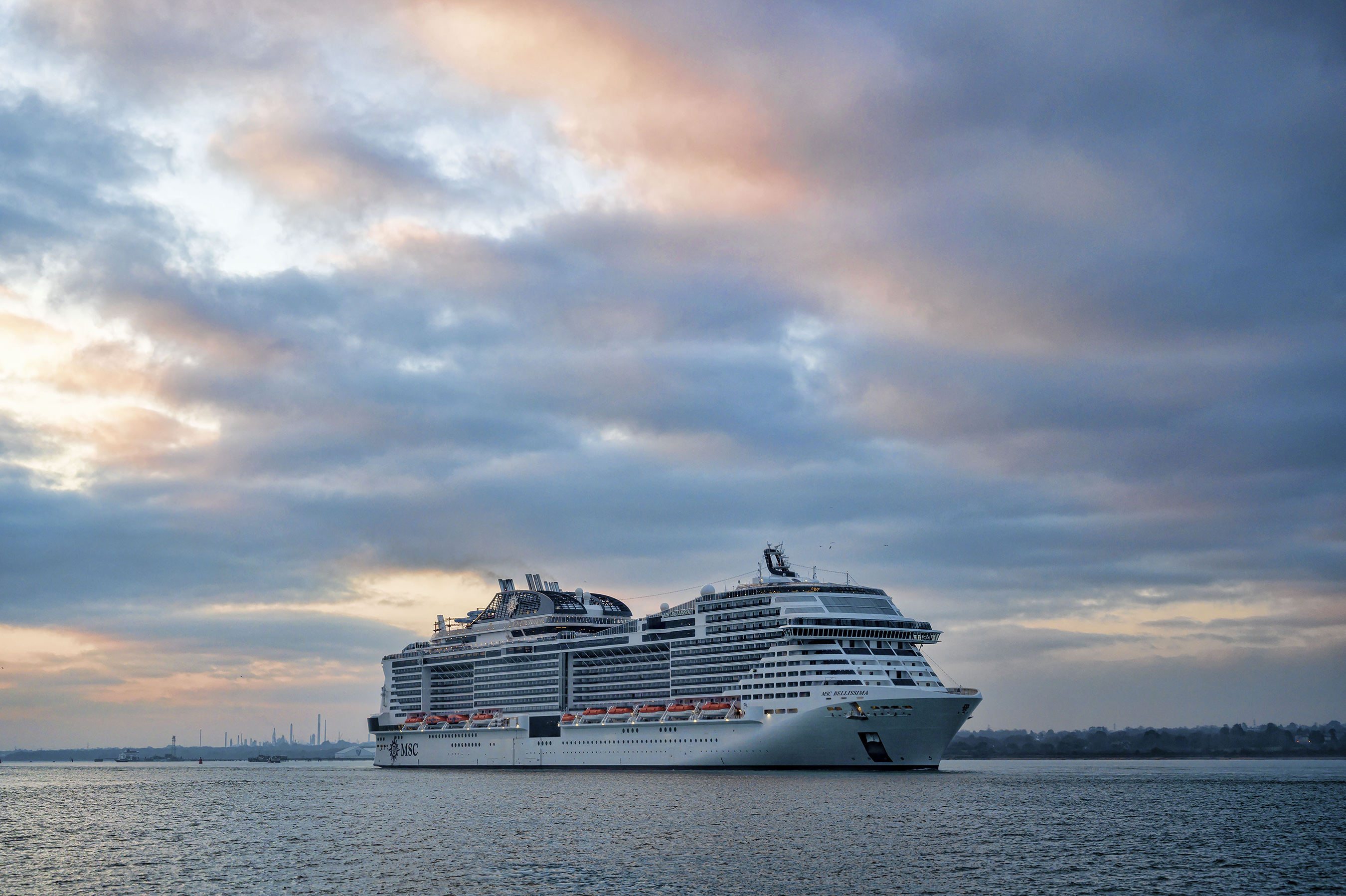 MSC Bellissima officially arrived to the port of Southampton on March 1, 2019.