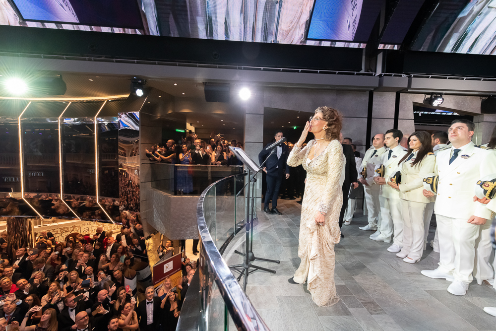 MSC Cruises' godmother, screen icon Sophia Loren, officially names her 14th MSC Cruises ship, MSC Bellissima. (Credit: Ivan Sarfatti)