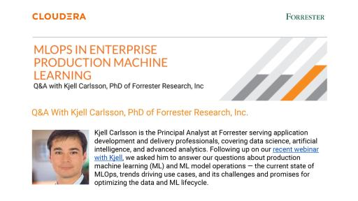 Q&A with Kjell Carlsson, PhD of Forrester Research, Inc