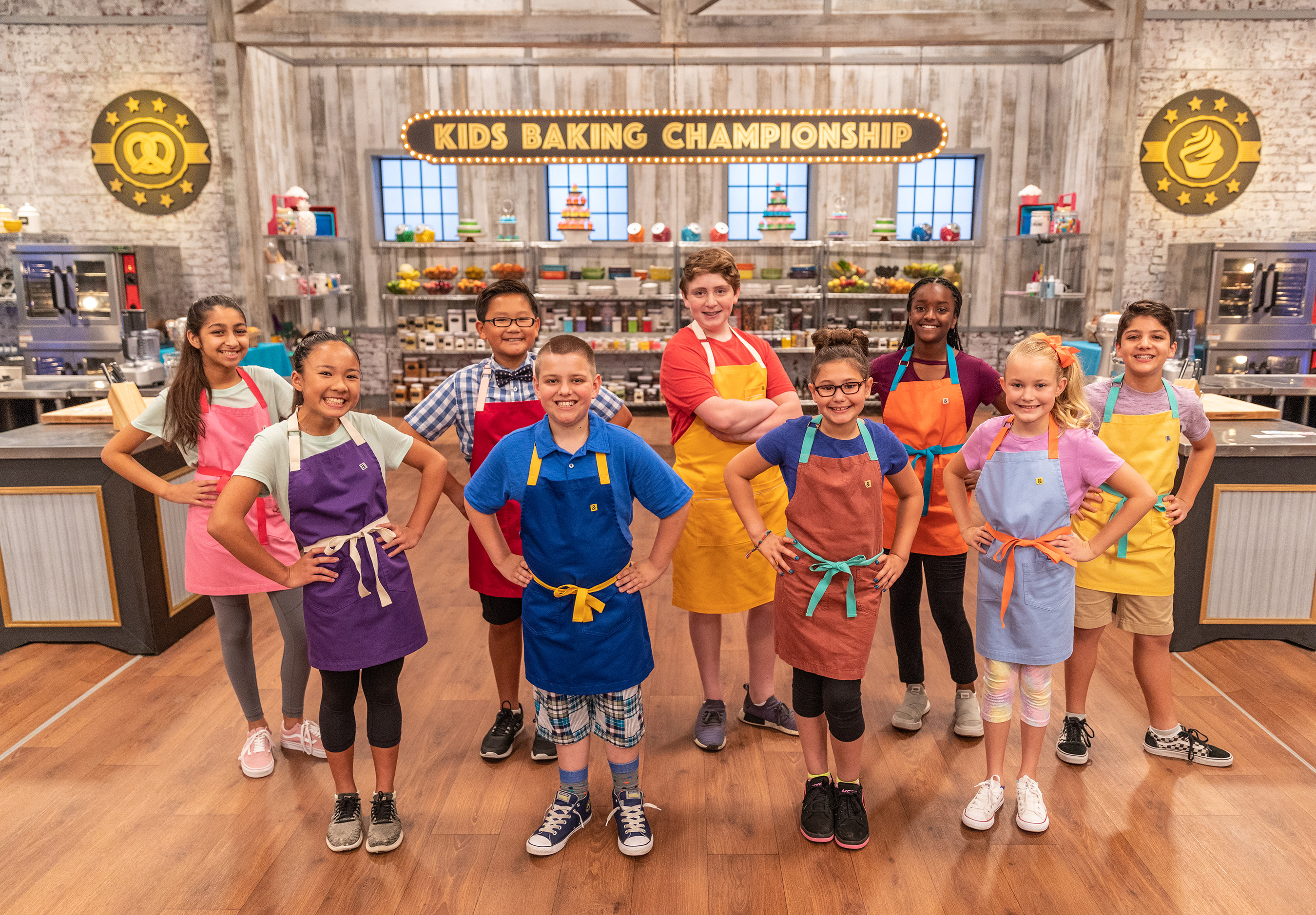 The contestants on Food Network's Kids Baking Championship
