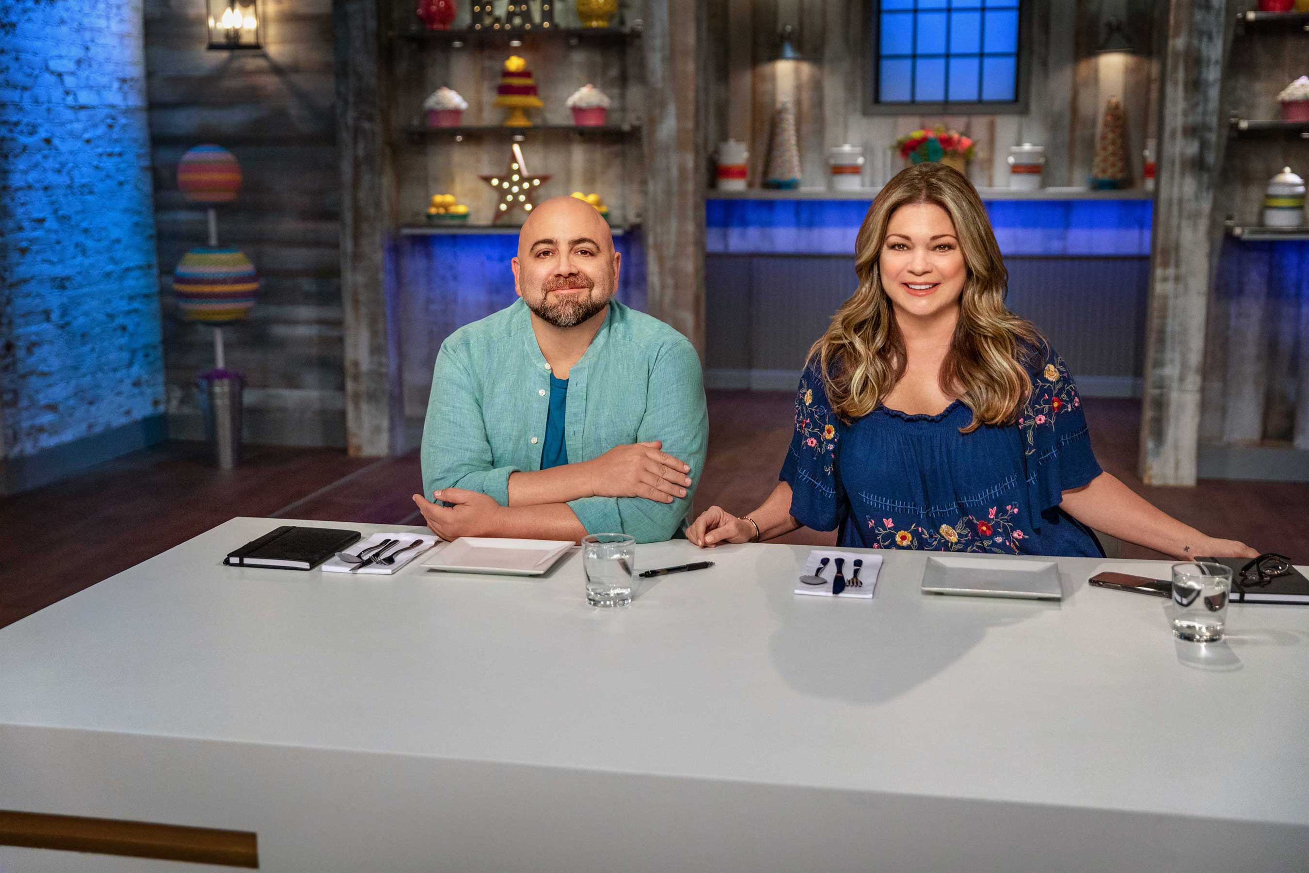 Valerie Bertinelli and Duff Goldman on Food Network's Kids Baking Championship