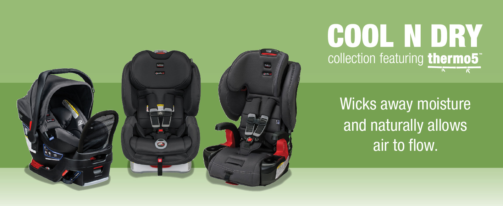 Three Car Seats Part Of The Cool N Dry Collection