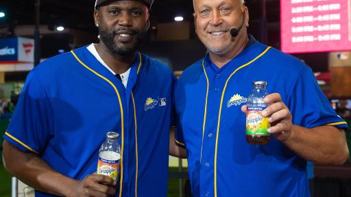 "Hall of Famer Cal Ripken Jr. and World Series Champion Cliff Floyd faced off in the first-ever Snapple All-Star Bottle Flip Challenge at MLB FanFest. Cliff Floyd was crowned ""Flip for Flavor"" champion."