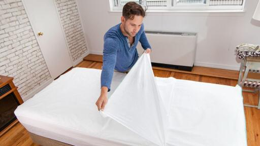 Man removing Peelaways sheets