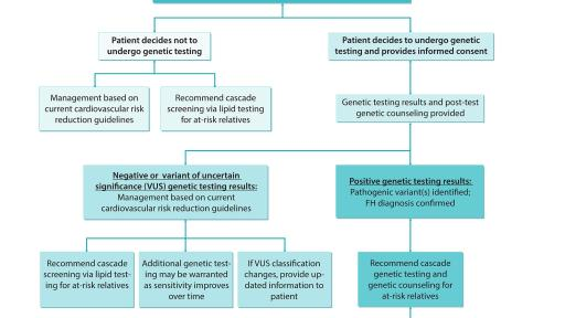 Genetic Testing Flow Diagram