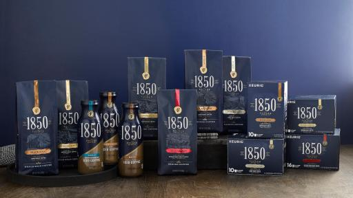 1850™ Brand Coffee is available in Ground, Whole-Bean, & K-Cup® Pods in 4 blends: Black Gold, Trailblazer, Pioneer Blend, and Lantern Glow™, & 3 ready-to-drink options: Sweet Cream, Mocha, & Vanilla.