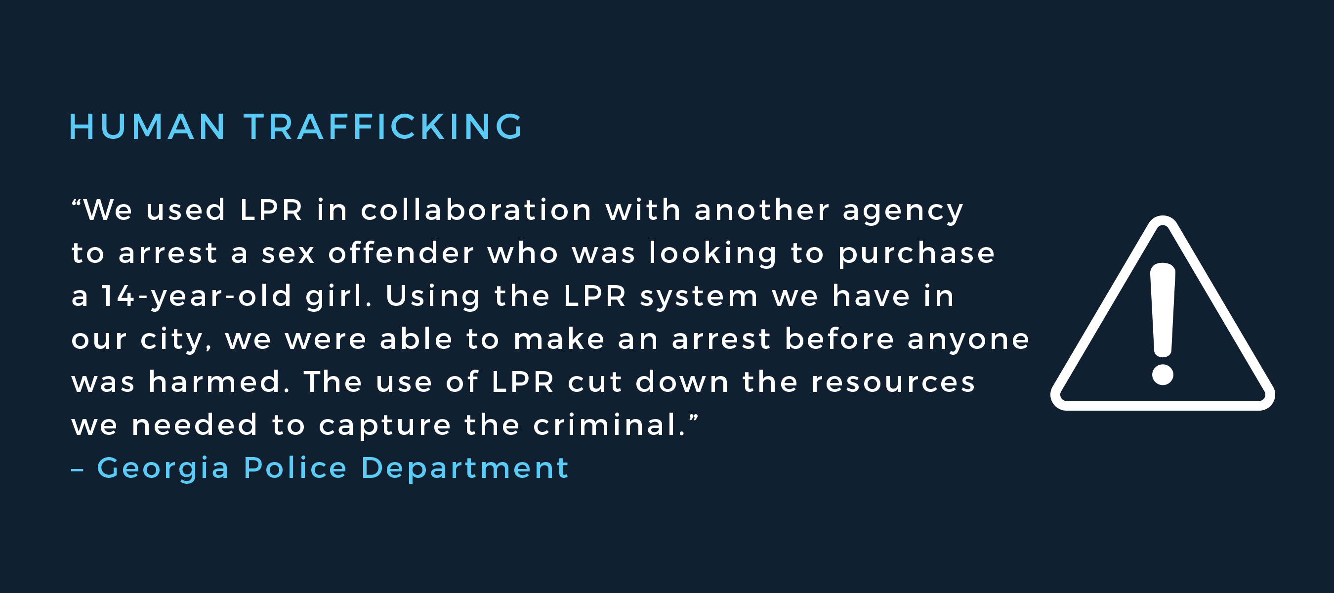 One of Many LPR Success Stories