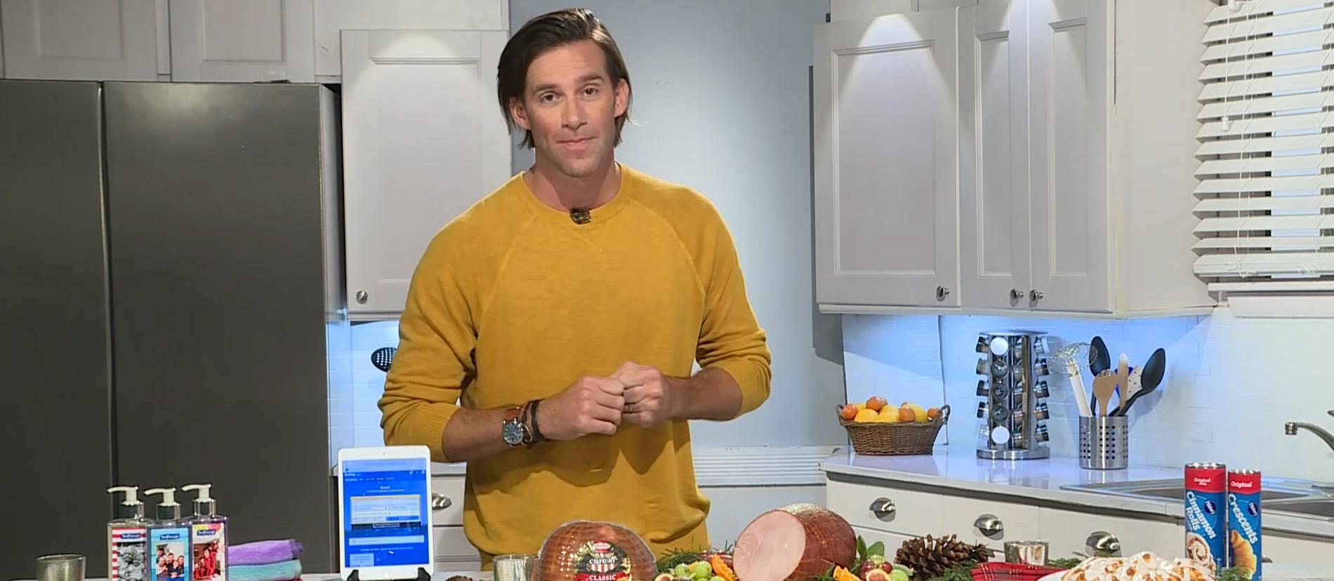 Chef and entertaining expert, James Briscione, shares his secrets for stress-free holiday hosting.