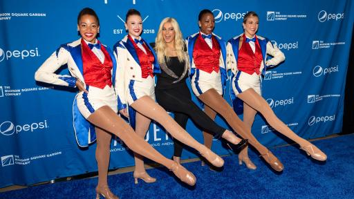 Radio City Rockettes and chart-topping singer-songwriter Bebe Rexha kicking up their heels