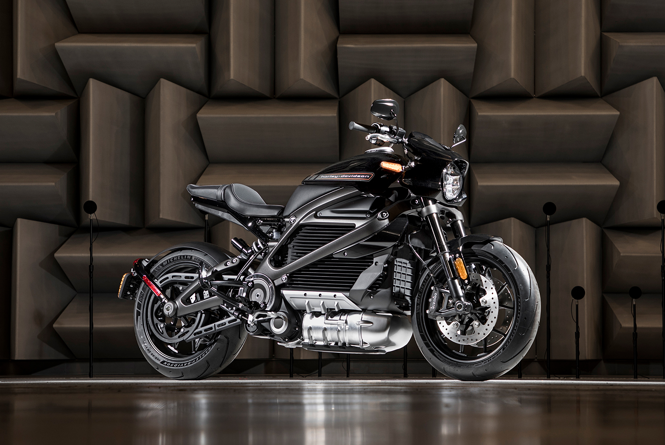 """Harley-Davidson's electric motorcycle, LiveWire(tm) -- the first in a broad, no-clutch """"twist and go"""" portfolio of electric two-wheelers designed to establish the company as the leader in the electrification of the sport - is planned to launch in 2019."""