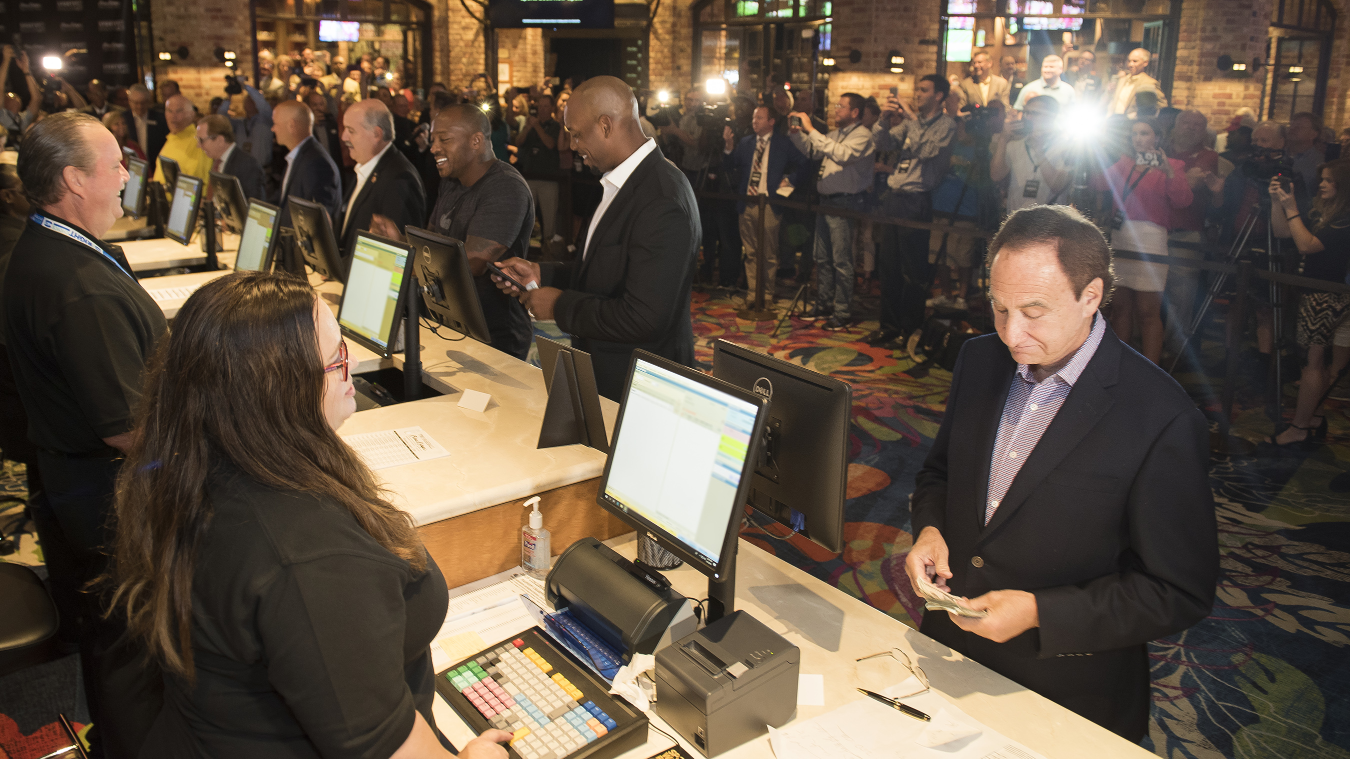 Legendary oddsmaker Danny Sheridan, NFL Robert Royal  and NFL's Willis McGahee among first to place sports bet at Beau Rivage Resort in Biloxi, MS