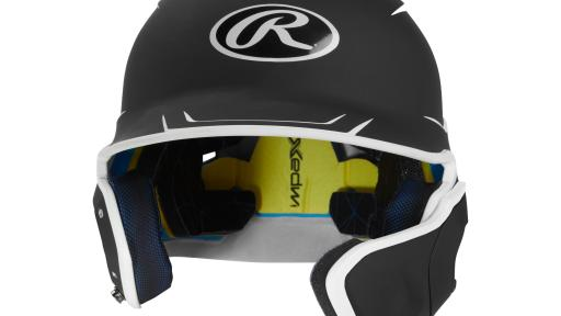Front view of Rawlings' new MACH EXT Batting Helmet
