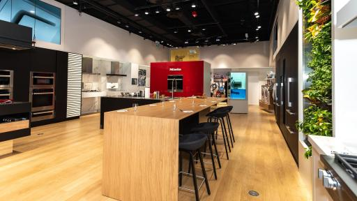 Miele Kitchen Experience centers around the welcome table