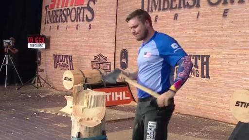 Matt Cogar, Erin LaVoie and Rainer Shooter are the 2018 STIHL TIMBERSPORTS® Champions