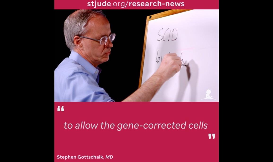 Stephen Gottschalk, MD, explaining gene therapy