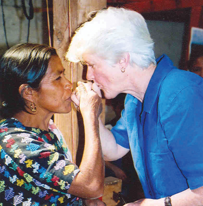 Maryknoll Sister Judith Noone, M.M. on mission in Guatemala