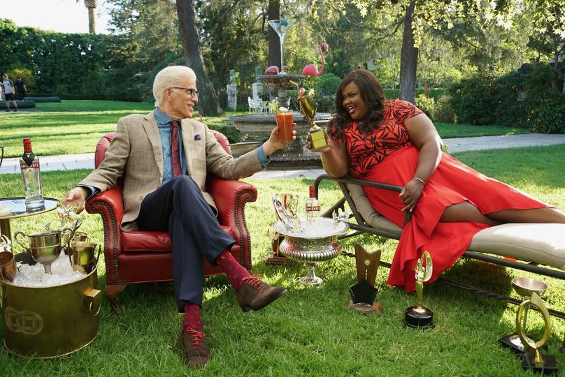 Ted Danson and Nicole Byer Talk Trophies on the Set of SMIRNOFF's New Fun% Campaign Shoot