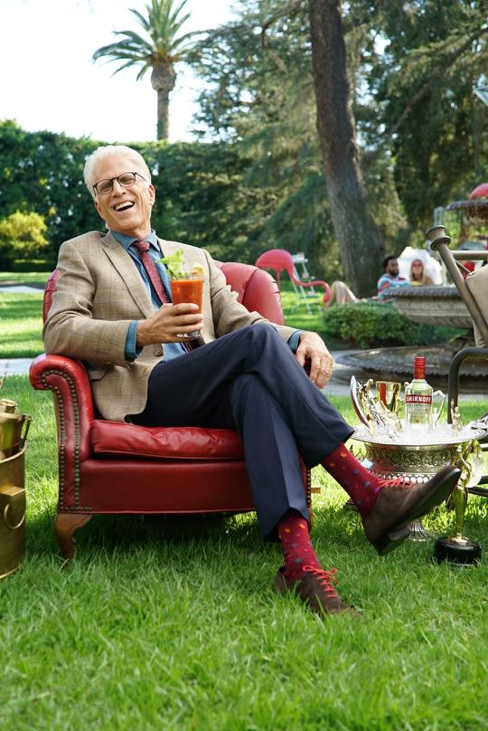 "Ted Danson Celebrates on Set of the New SMIRNOFF Vodka ""Welcome to the Fun%"" Campaign"