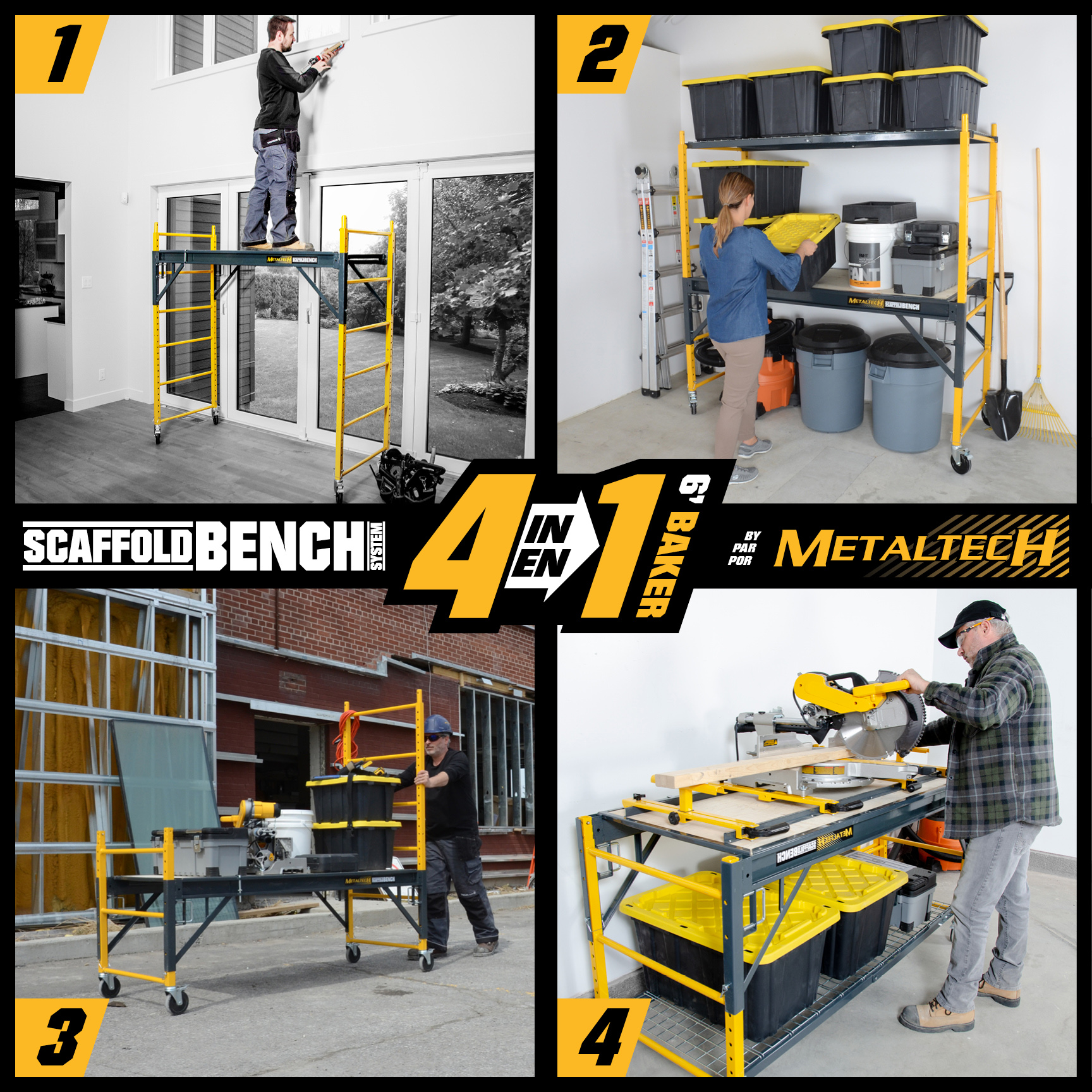 Metaltech 6' Baker ScaffoldBench