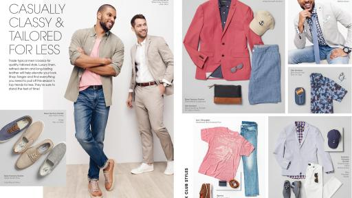 collage of Tanger Outlets men's clothing