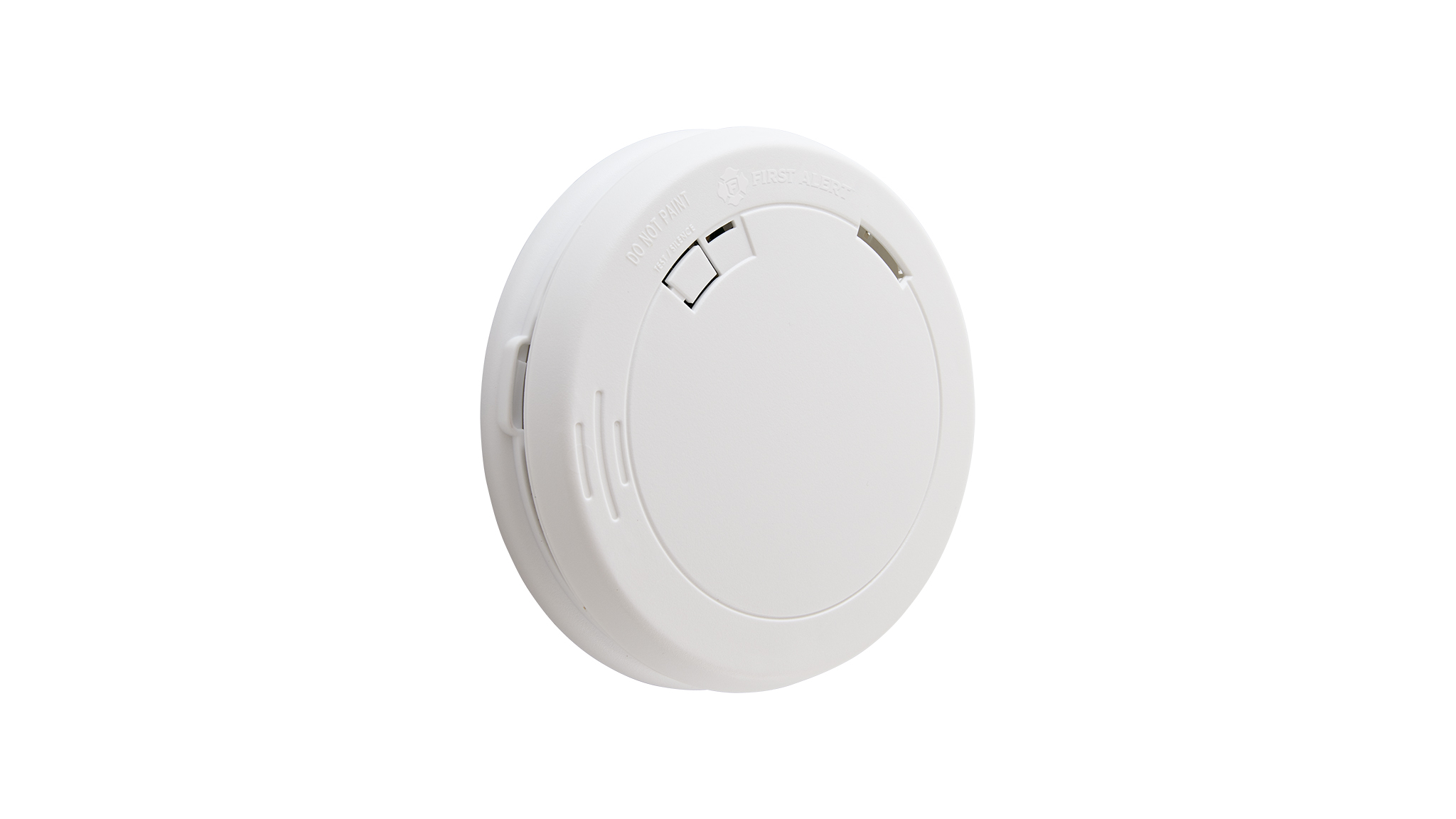 The First Alert 10-Year Smoke Alarm (PR710) features a sealed, 10-year battery.