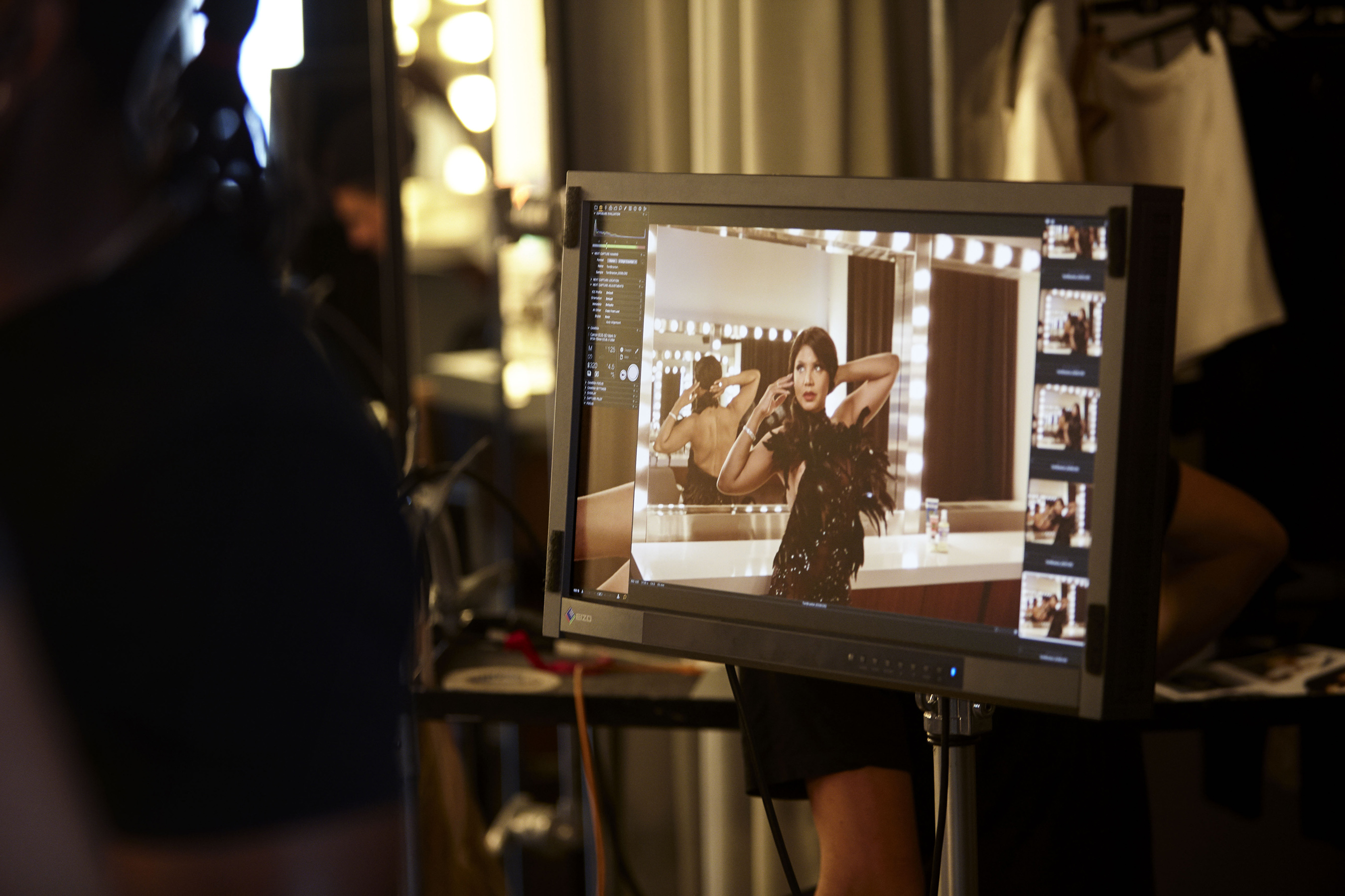 Toni Braxton behind the scenes