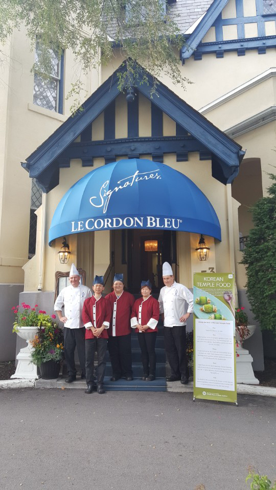 The chefs together at Le Cordon Bleu last year