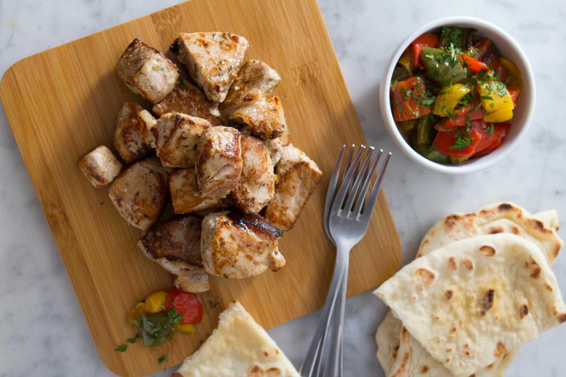 Mediterranean Pork Bites