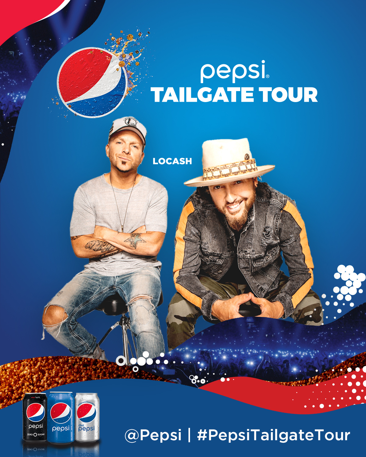 Pepsi Tailgate Tour featuring Wheelhouse Records' country breakout duo LOCASH