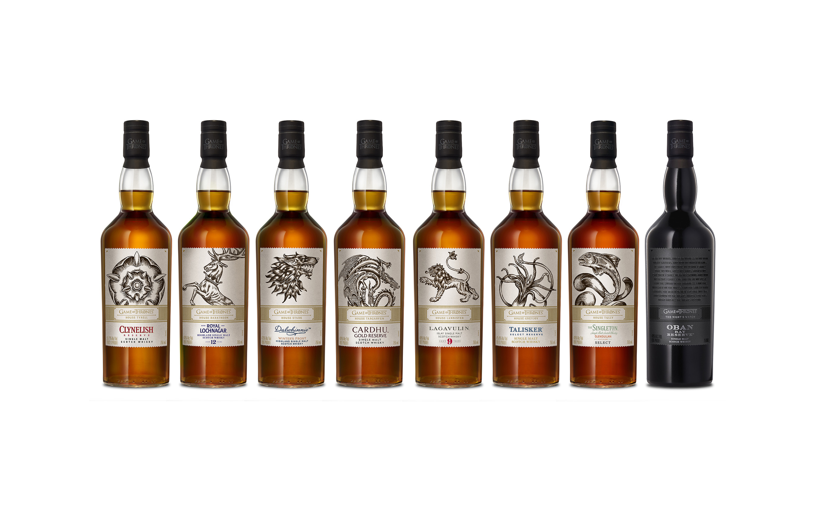 Introducing The Game of Thrones Single Malt Scotch Whisky Collection