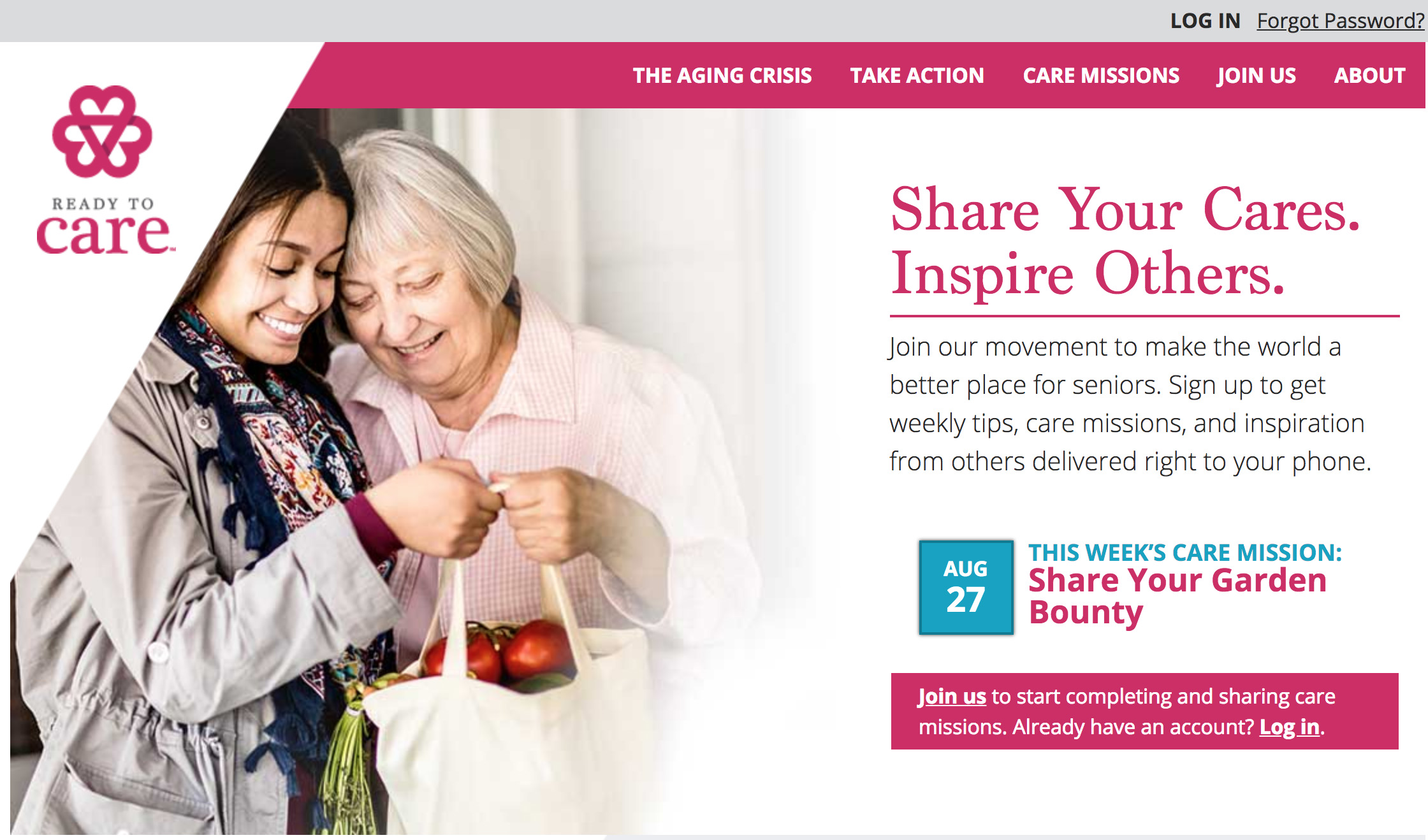 Weekly care missions offer simple ways to connect with and help aging neighbors and loved ones.