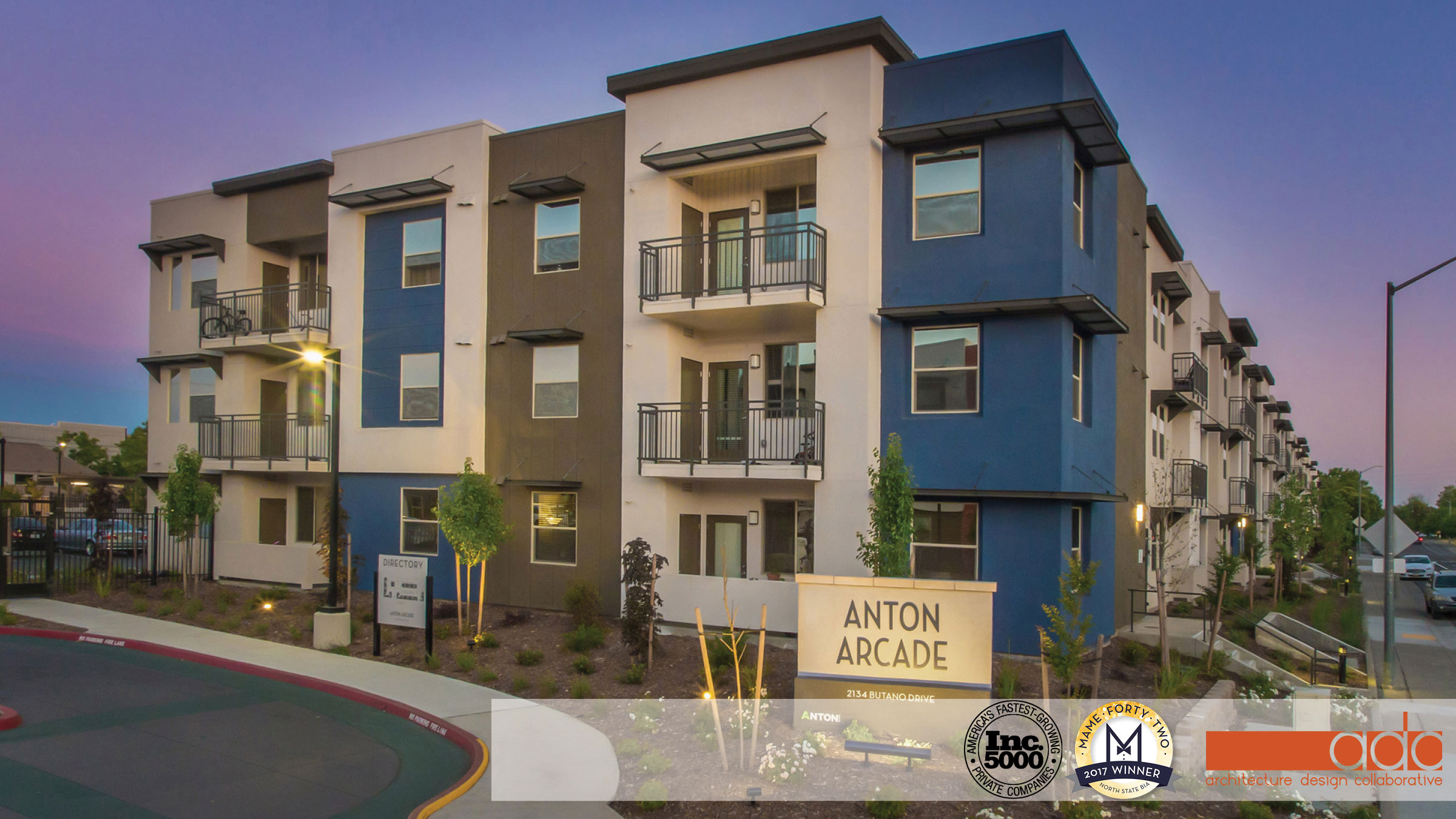 This is a medium density, affordable housing apartment project located in Sacramento, California. The project consists of multiple three-story apartment buildings with tuck under garages, a single-story community building with a business center, training space, tot lot and a pool and spa.