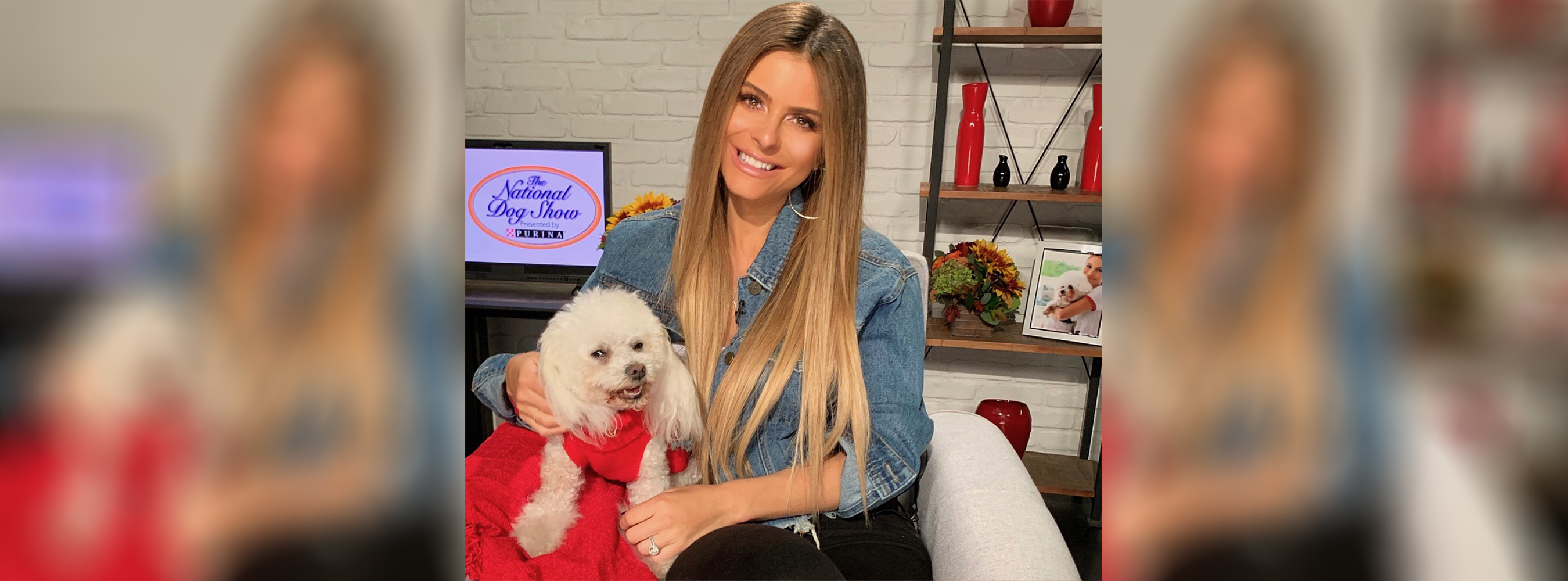 Maria Menounos and her dog Whinnie are teaming up with Purina to thank our pets through this year's #DogThanking movement in celebration of Thanksgiving and the National Dog Show Presented by Purina.