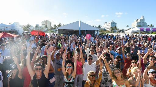 People gathered at the Food Network & Cooking Channel South Beach Wine & Food Festival