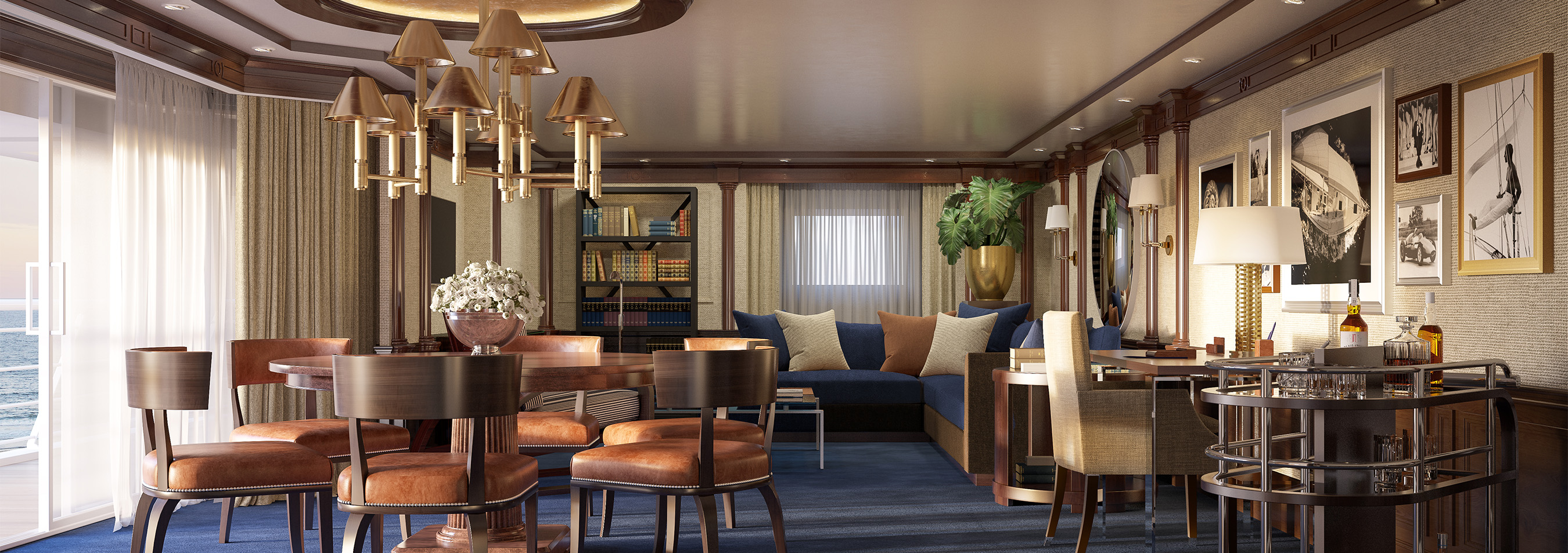 Living area of an Oceania Cruises ship