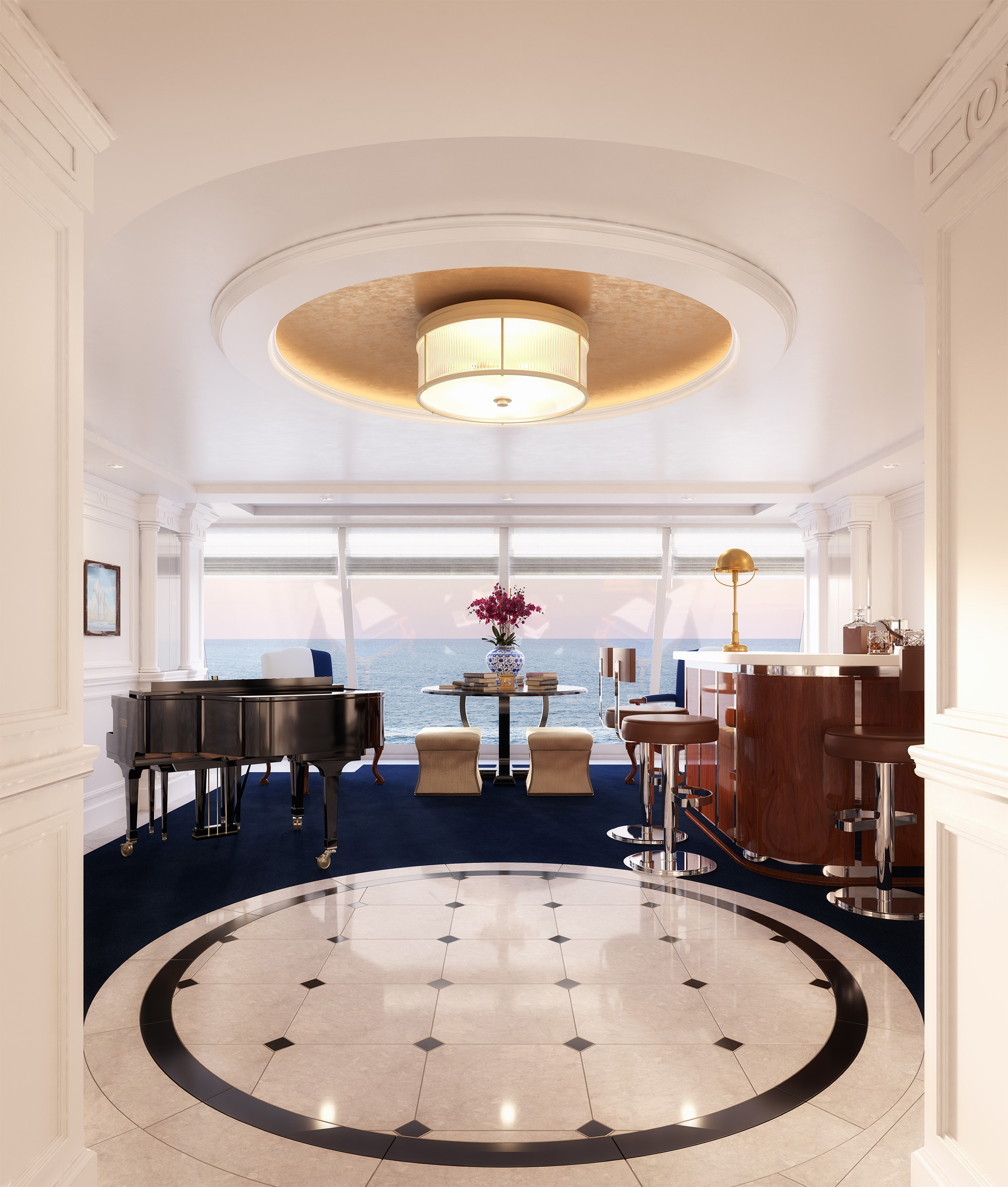 Grand Foyer Yacht : Oceania cruises reveals all new owner s suites furnished