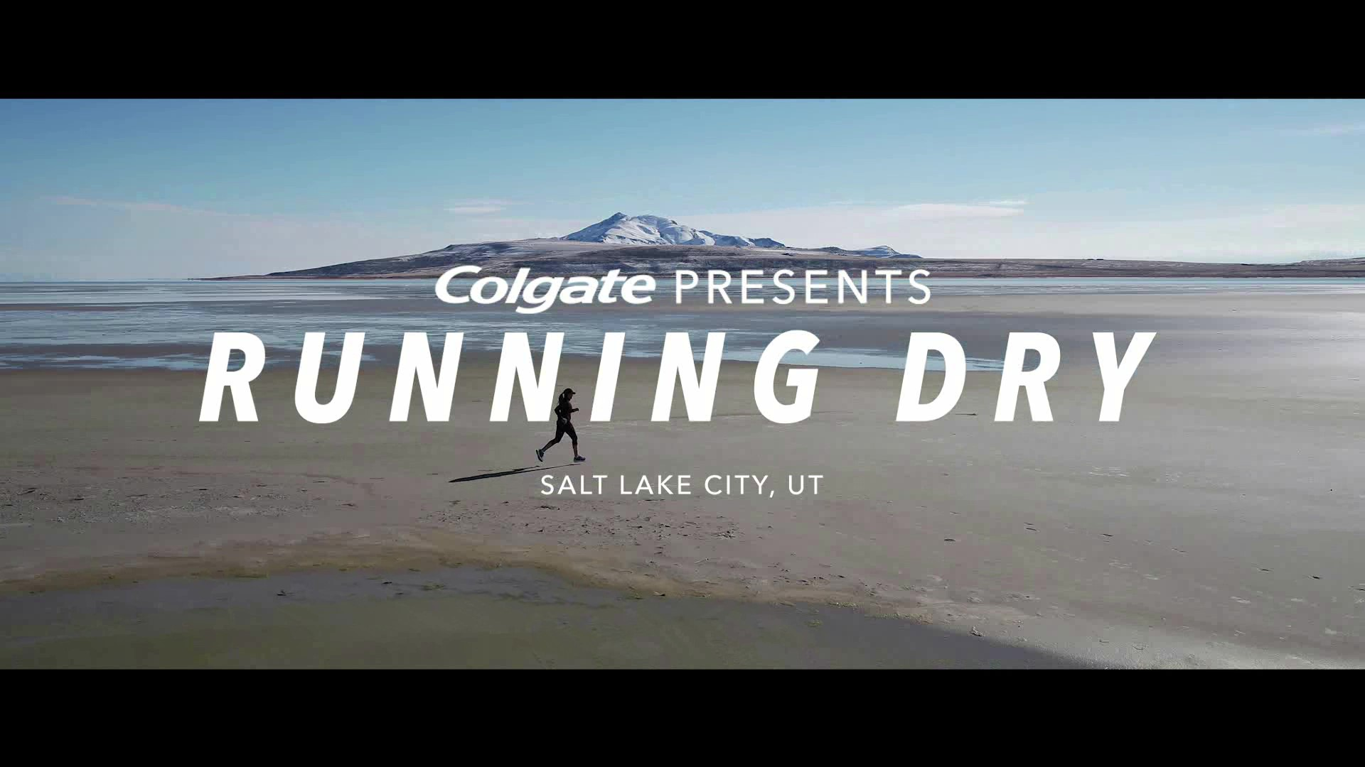 Water advocate and ultra-runner Mina Guli talks water scarcity at the Great Salt Lake as part of her #RunningDry effort, sponsored by Colgate