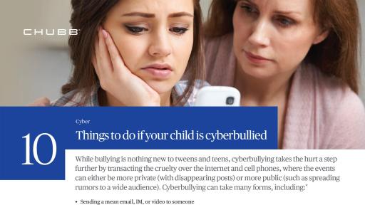 10 Things to do if Your Child is Cyberbullied PDF