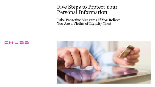 Five Steps to Protect Your Personal Information