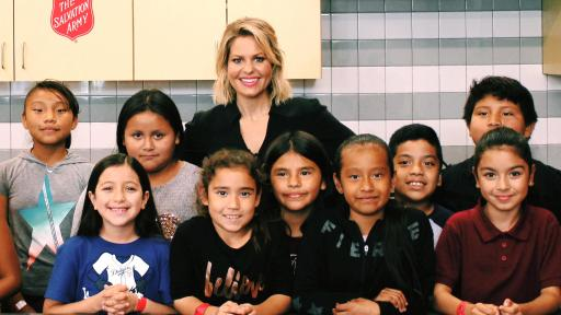 Candace Cameron Bure with children