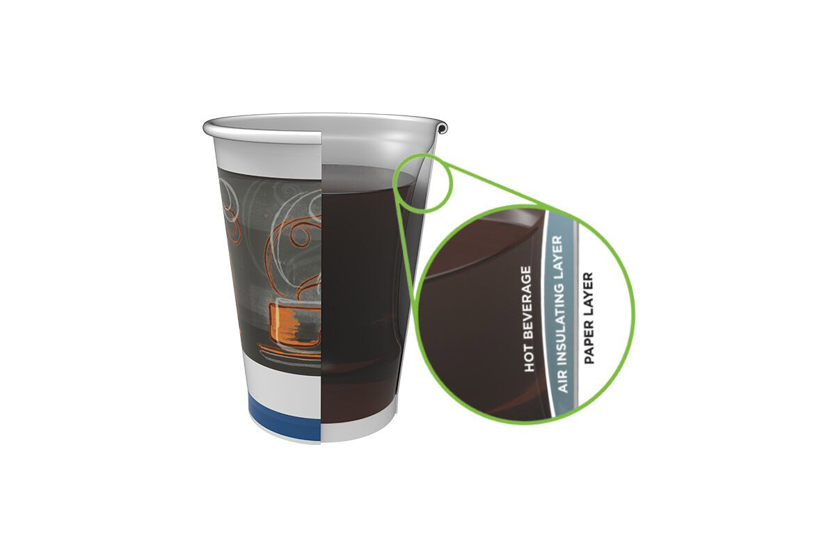 Help keep beverages hot and hands cool with the new Dixie Ultra® Insulair™ Hot Cup.