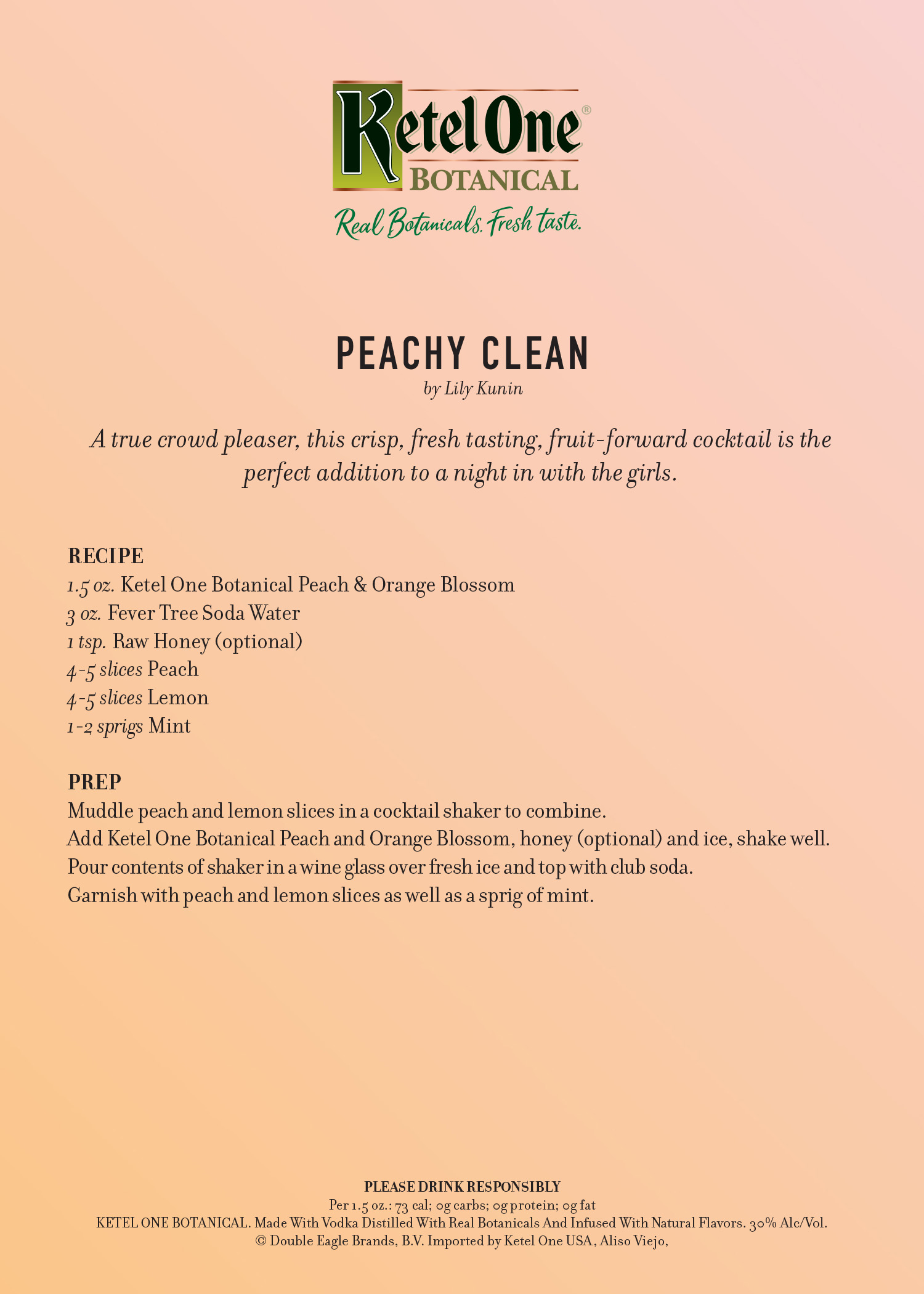 Peachy Clean by Lily Kunin