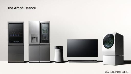LG SIGNATURE product lineup