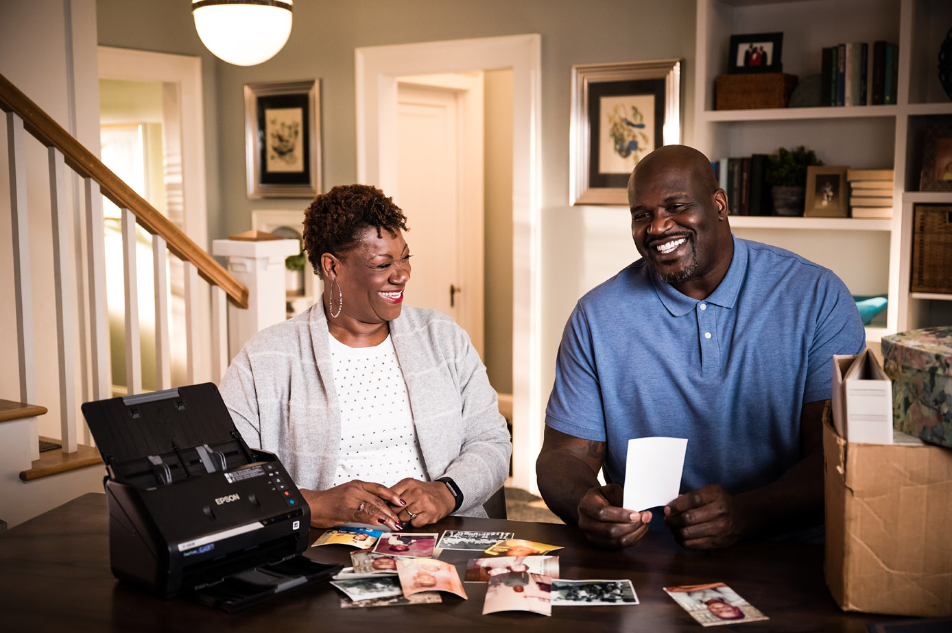 Lucille and Shaquille O'Neal relive childhood memories through their old photos