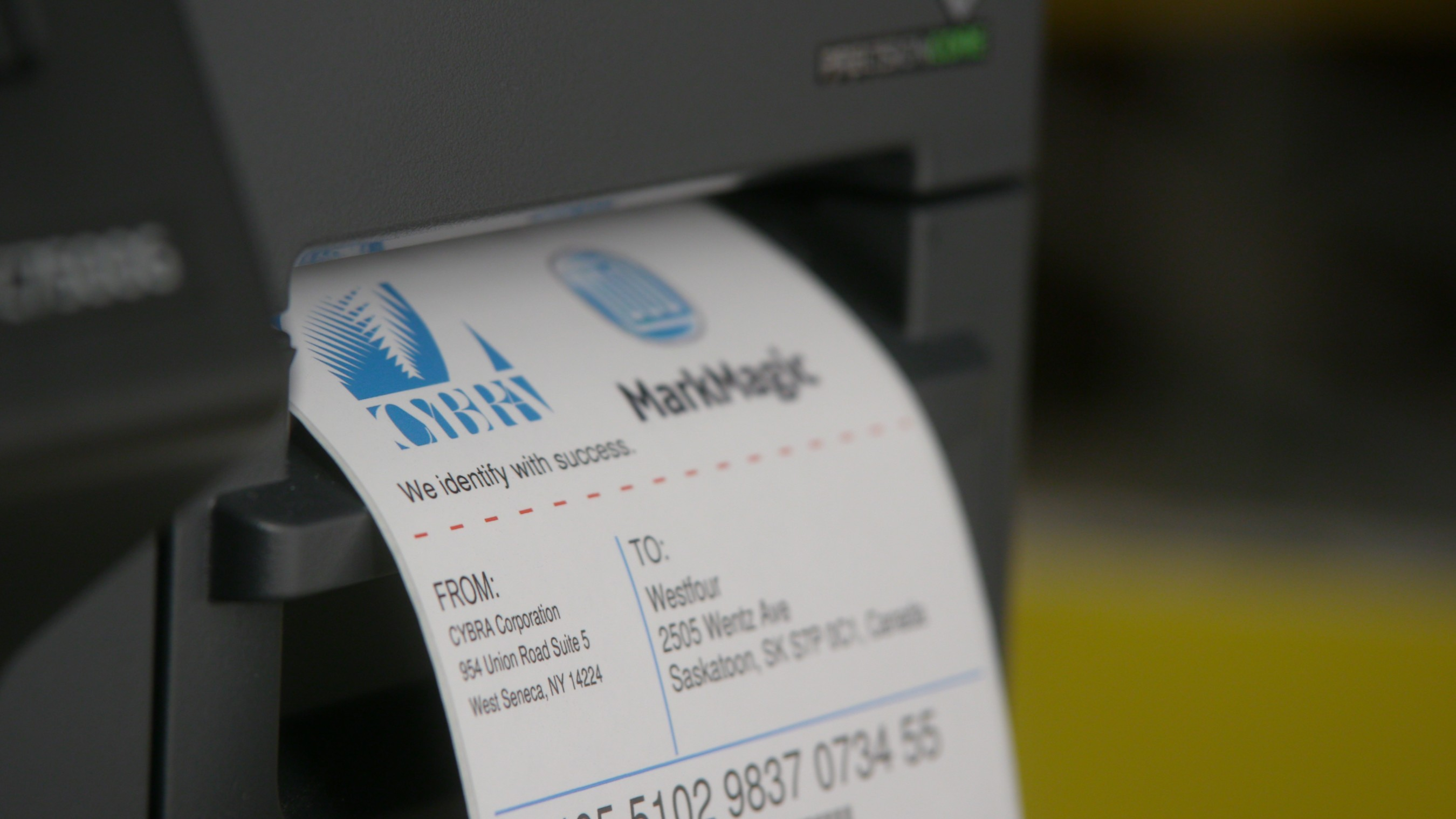 With the Epson ColorWorks C7500G printer, custom color labels are quickly created, which can help reduce waste and save on costs