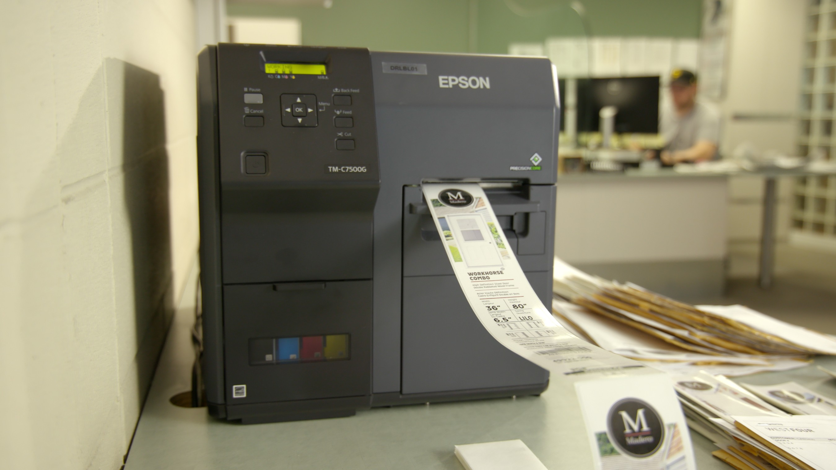The Epson ColorWorks C7500G on-demand inkjet label printer