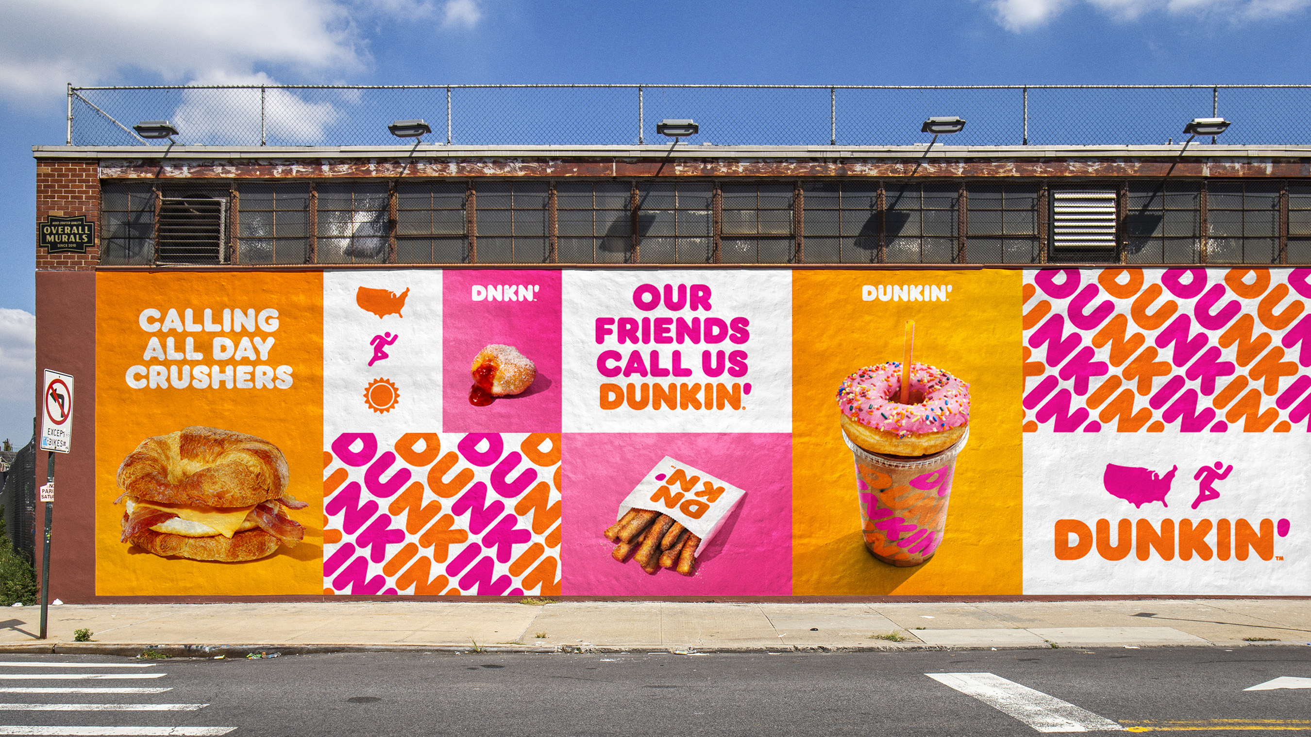 Examples of Dunkin' new branding