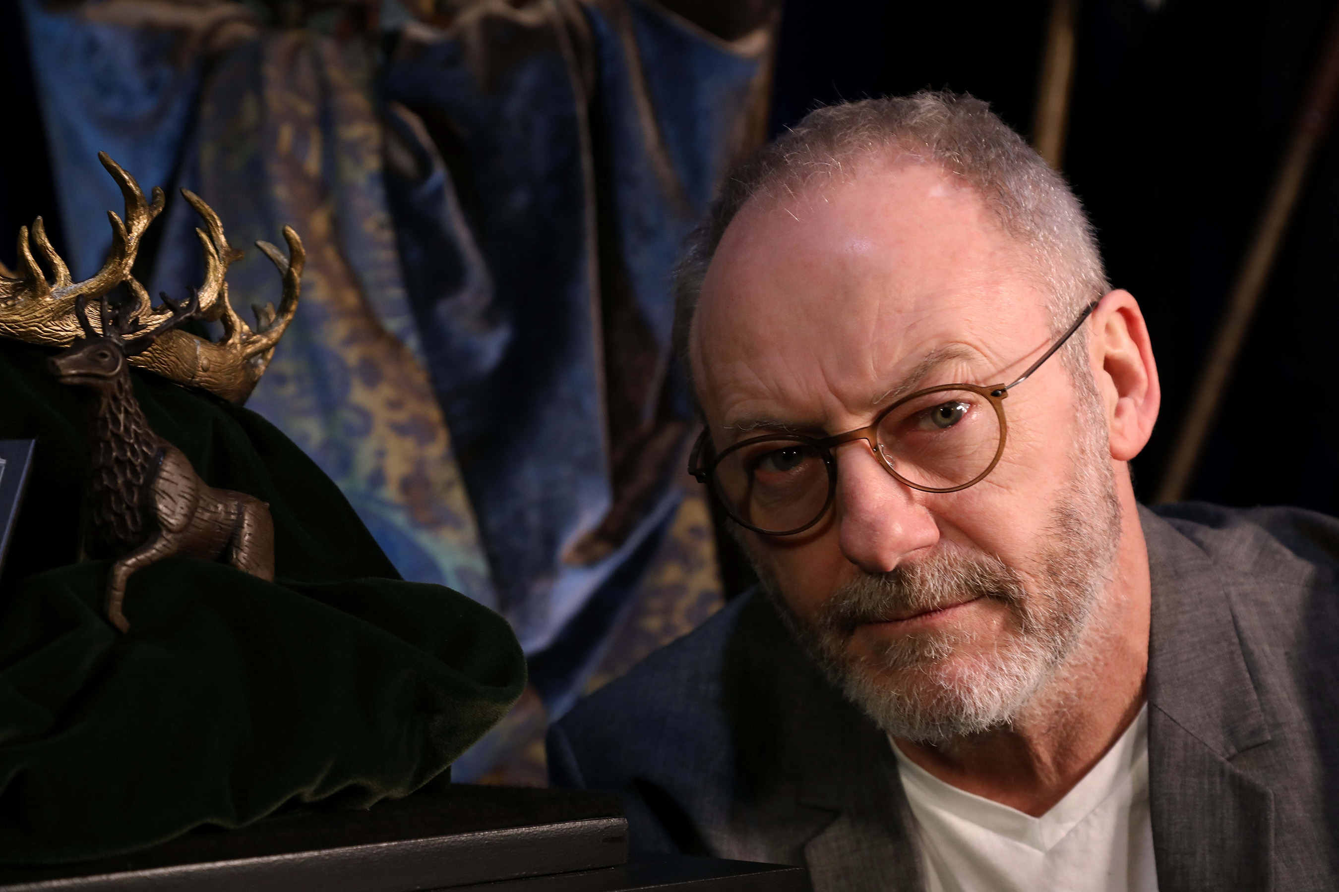 Liam Cunningham at GAME OF THRONES™: The Touring Exhibition at TEC in Belfast, Northern Ireland