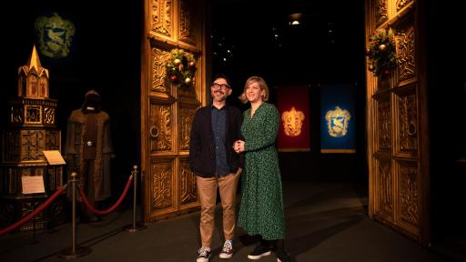 Eduardo Lima and Miraphora Mina at Harry Potter™: The Exhibition at the Pavilion of Portugal in Lisbon, Portugal